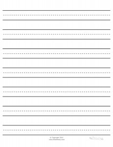 Attractive Paper Type 2  Lined Paper To Type On